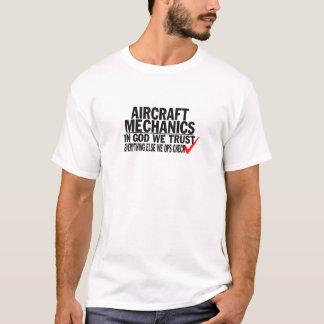 Camiseta Mecânicos de aviões