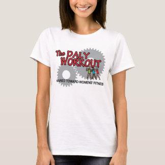 Camiseta MED do tamanho da mulher. T-shirt do exercício do