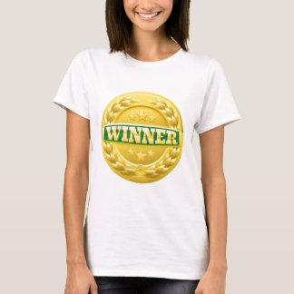 Camiseta Medalha da grinalda do louro do vencedor do ouro