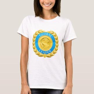 Camiseta Medalha global da grinalda do louro do vencedor do
