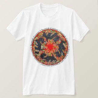 Camiseta Medalhão celta de Terrier do Scottish