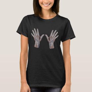Camiseta Medicina do vintage, dedos humanos da mão da