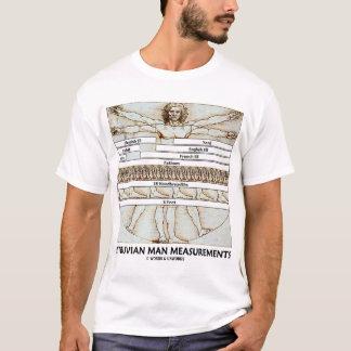 Camiseta Medidas do homem de Vitruvian (Leonardo da Vinci)