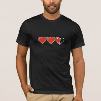 Camiseta medidor do coração 8bit