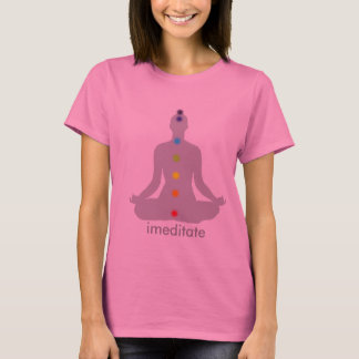 Camiseta Meditação de PixDezines Chakra, cusomizable