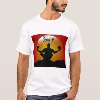 Camiseta Meditação do toxicómano do golfe do disco