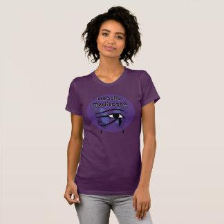 Camiseta Meditated pesadamente com o olho de Horus