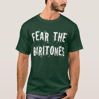 Camiseta Medo engraçado a camisola encapuçado dos barítonos