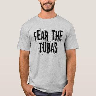 Camiseta Medo engraçado o t-shirt das tubas