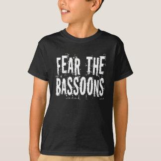 Camiseta Medo engraçado o t-shirt dos miúdos dos fagotes