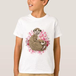 Camiseta Meerkat customizável Momma e bebê