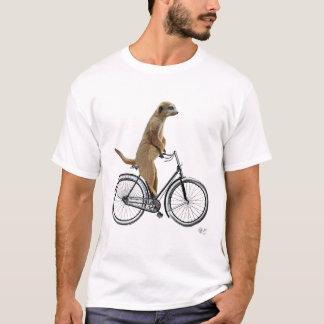 Camiseta Meerkat na bicicleta