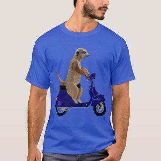 Camiseta Meerkat no Moped azul escuro