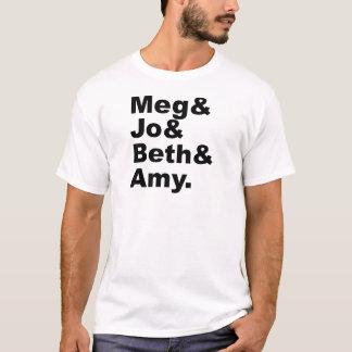 Camiseta Megohm & literatura pequena das mulheres de Jo &