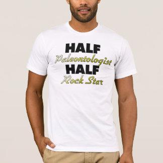 Camiseta Meia estrela do rock do meio Paleontologist