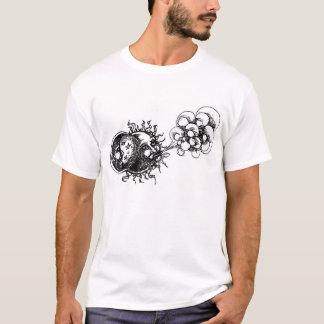 Camiseta meia lua, sol e vento