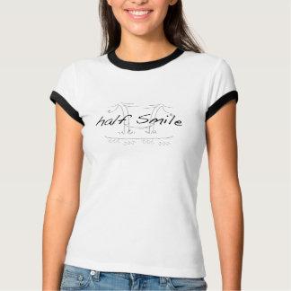 Camiseta meio sorriso funcionado nas meninas T da chuva