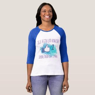 Camiseta Meios sociais um como o impulso do amor-próprio