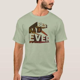 Camiseta Melhor pai 3D corajoso simples nunca