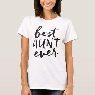 Camiseta Melhor tia escrita à mão Nunca