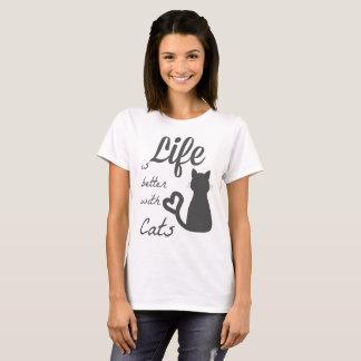 Camiseta melhore com gatos