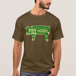 Camiseta Melhore com porcos