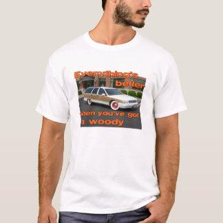Camiseta Melhore com um t-shirt arborizado