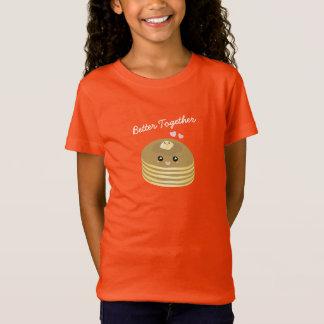 Camiseta Melhore junto panquecas bonitos Foodie engraçado