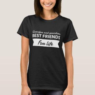 Camiseta Melhores amigos do vovô e do neto para a vida