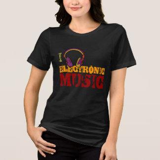 Camiseta melómano do eletro do auscultadores
