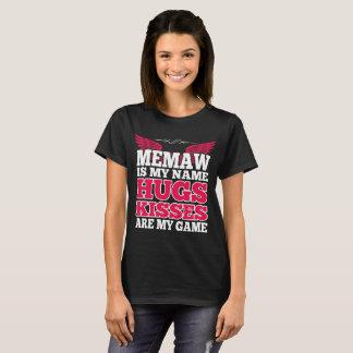Camiseta Memaw é meus abraços que conhecidos os beijos são
