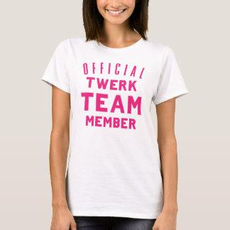 Camiseta Membro da equipa oficial de Twerk