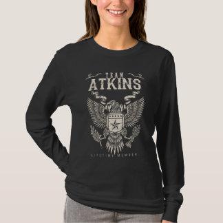 Camiseta Membro da vida de ATKINS da equipe. Aniversário do