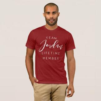 Camiseta Membro da vida de Jordão da equipe