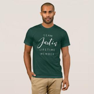 Camiseta Membro da vida de Justin da equipe