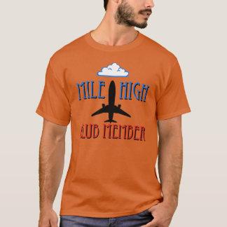 Camiseta Membro de clube alto da milha