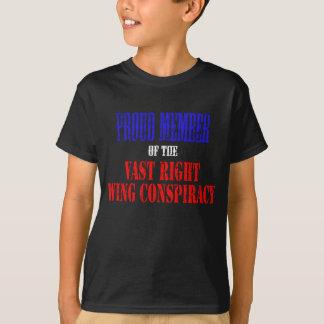 Camiseta Membro orgulhoso da conspiração vasta do direita