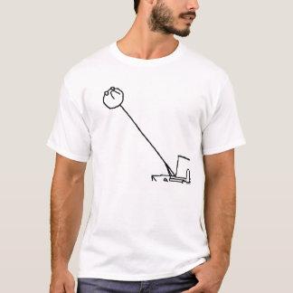 Camiseta meme longo do pescoço
