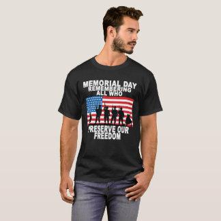 Camiseta Memorial Day que recorda tudo que preserva nosso