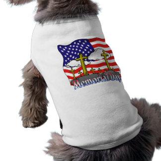 Camiseta Memorial Day - roupa do animal de estimação da