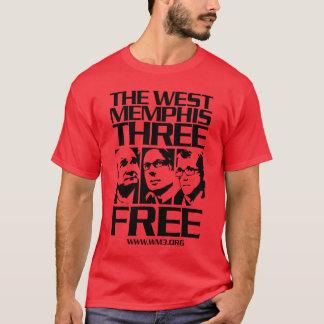 Camiseta Memphis ocidental três. Livre. Escuro