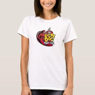 Camiseta Menina afortunada do diabo do cão