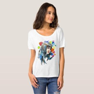 Camiseta Menina bonito com o t-shirt das mulheres do