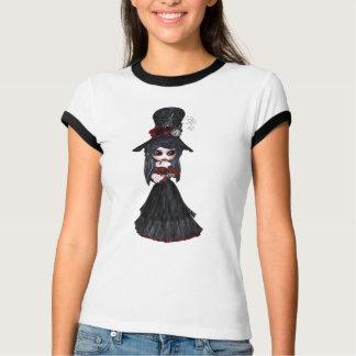 Camiseta Menina bonito do gótico de Steampunk do Victorian