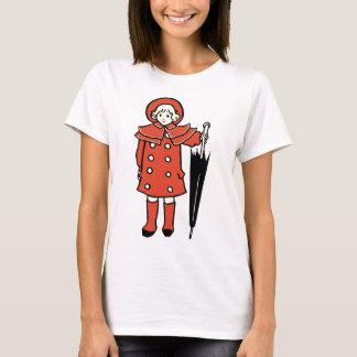 Camiseta Menina com guarda-chuva