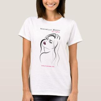 Camiseta Menina com ícone de marcagem com ferro quente do