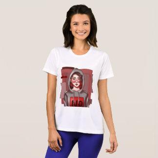 Camiseta Menina com um t-shirt do hoodie