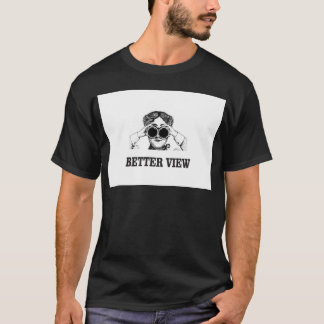 Camiseta menina com uma vista melhor