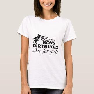 Camiseta menina da bicicleta da sujeira
