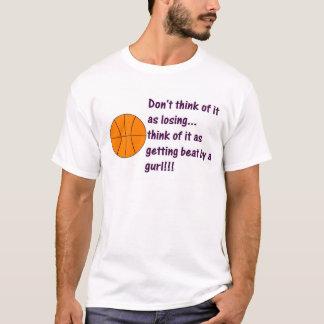 Camiseta Menina da bola da cesta